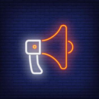 Loudspeaker neon sign element