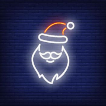 Neon Santa Claus shape