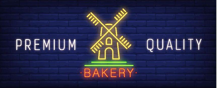 Premium quality bakery neon sign