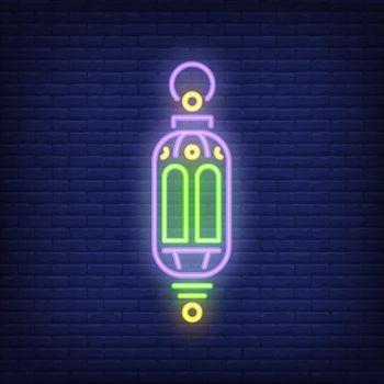 Ramadan lantern neon sign