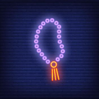 Rosary neon sign