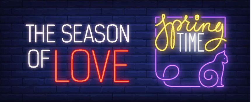 Springtime is season of love neon sign