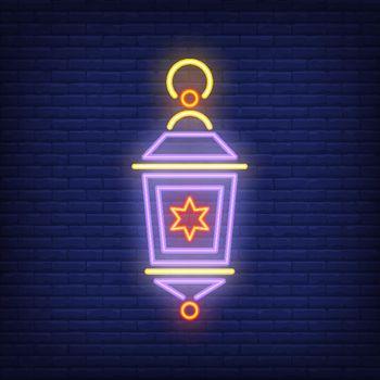 Traditional lantern neon sign