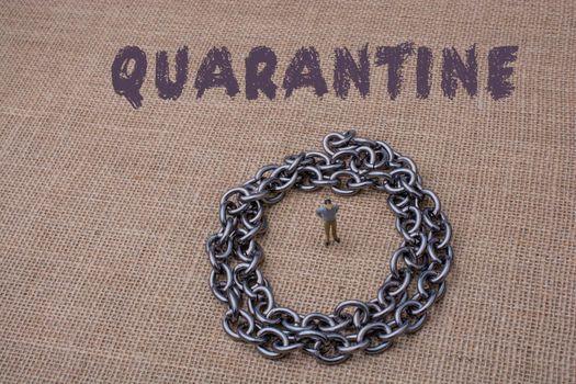 Coronavirus pandemy warning. Stay home on quarantine. Self quarantine.