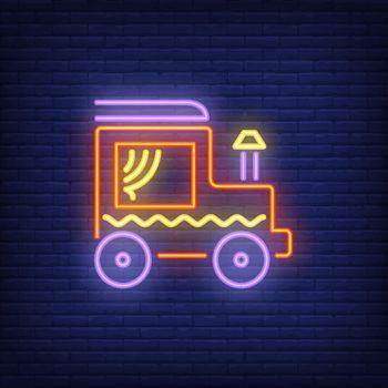 Locomotive with chimney neon sign