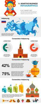 Russian culture infochart diagrams set