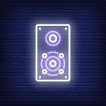 One loudspeaker neon sign