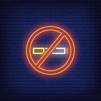 No smoking neon sign