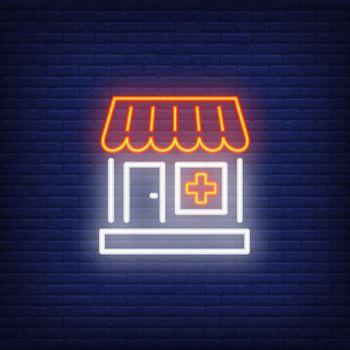 Pharmacy drugstore neon sign