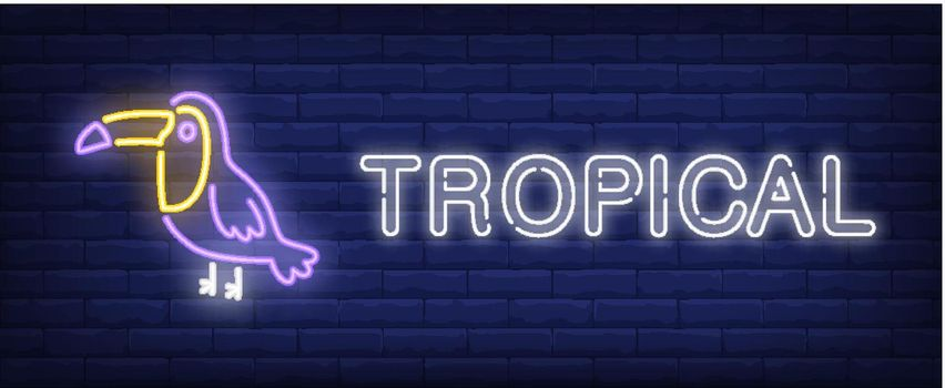 Tropical neon sign