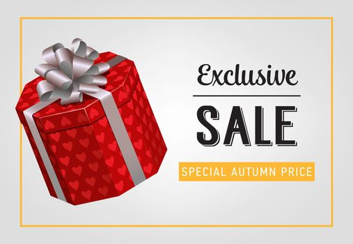 Exclusive sale, special autumn price lettering with gift box