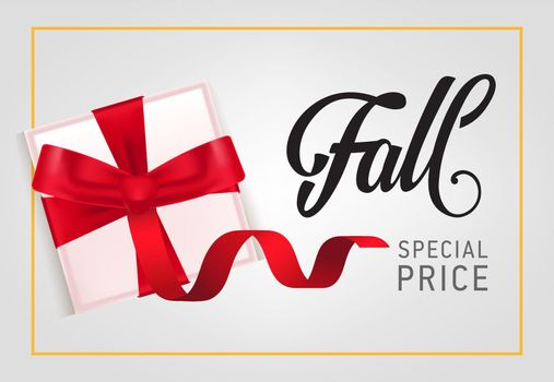 Fall, special price lettering with gift box