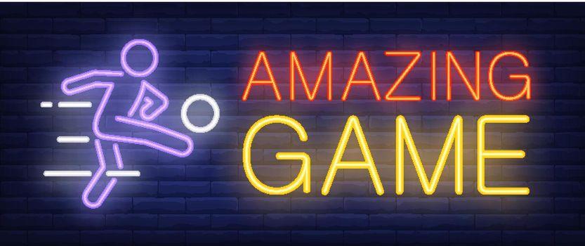 Amazing game neon sign