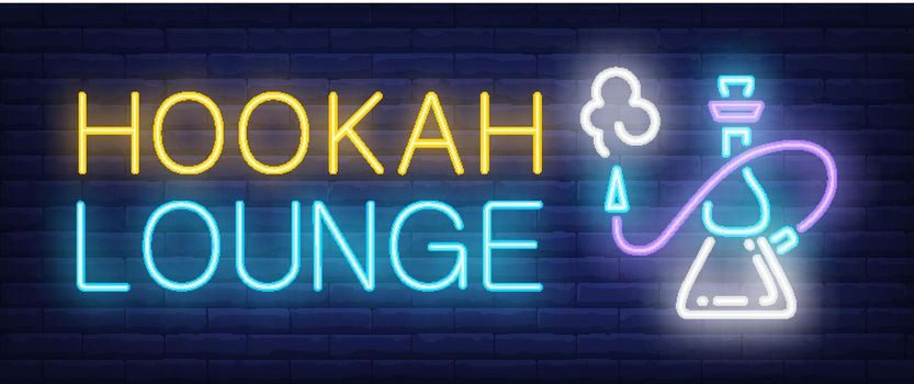Hookah lounge neon sign