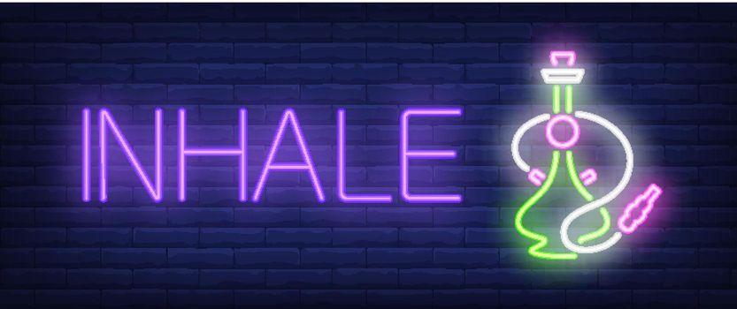 Inhale neon sign