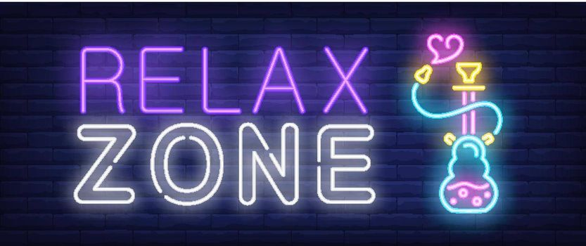 Relax zone neon sign