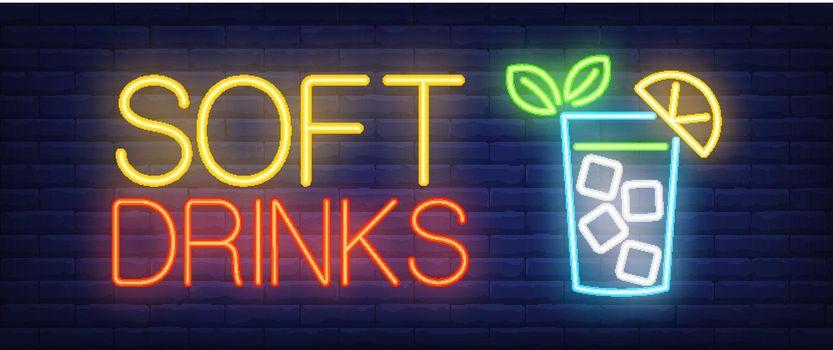 Soft drinks neon sign