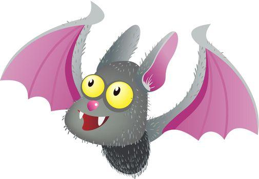 Cute smiling vampire bat