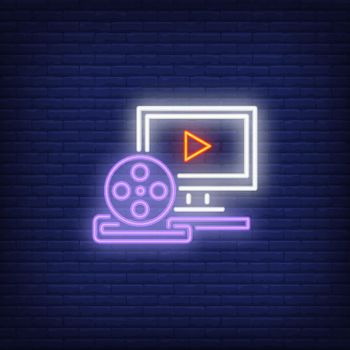 Video production neon sign