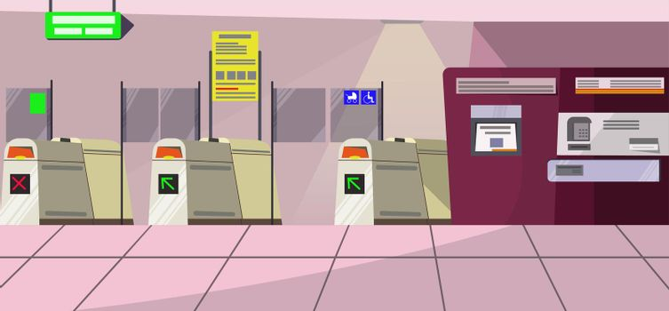 Airport security gates vector illustration