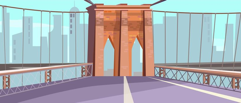Brick arch of city bridge vector illustration