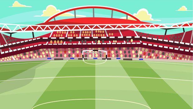 Soccer stadium vector illustration