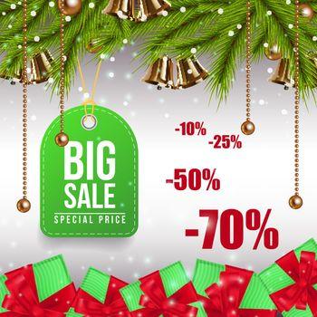 Big Christmas Sale colorful coupon design