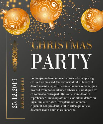 Christmas party greeting card design