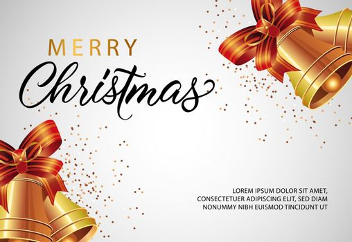 Merry Christmas banner design with jingles