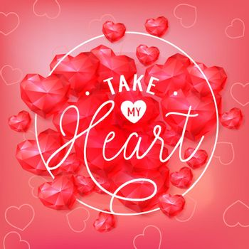 Take my heart in round frame