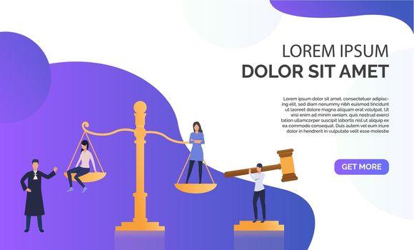 Federal law presentation  illustration