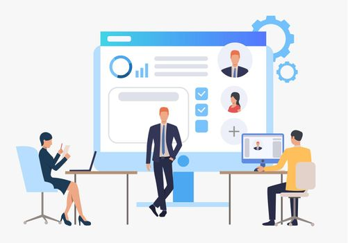 Hiring agency, candidates and job interview