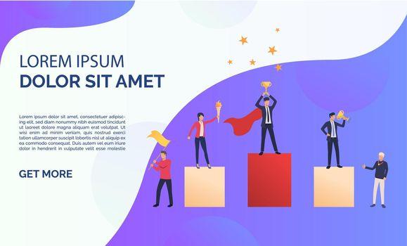 Purple business presentation illustration