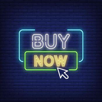 Buy now neon sign