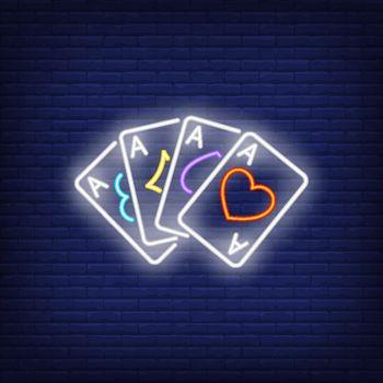 Four aces neon sign