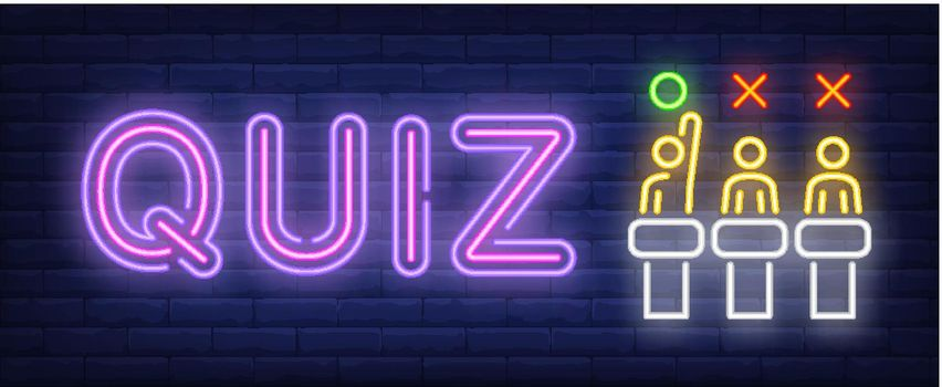 Quiz neon sign