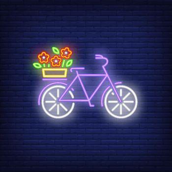 Spring bike neon sign