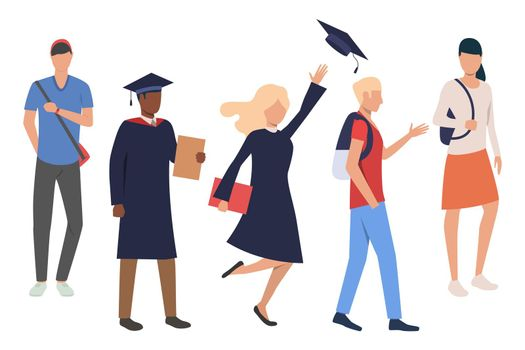 Collection of students celebrating graduation