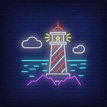 Lighthouse neon sign