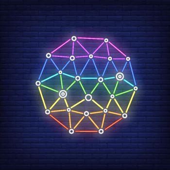 Network metaphor neon sign