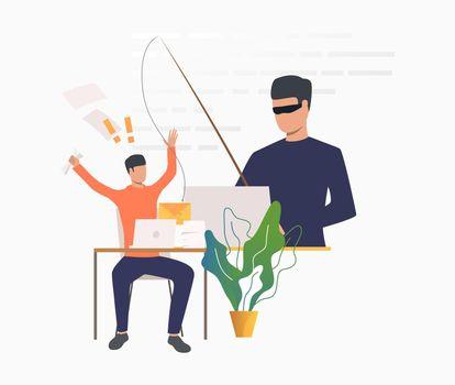 Burglar hacking into office email server