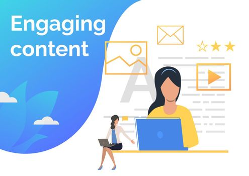 Content managers creating content