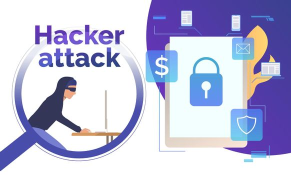 Cyber burglar hacking into device