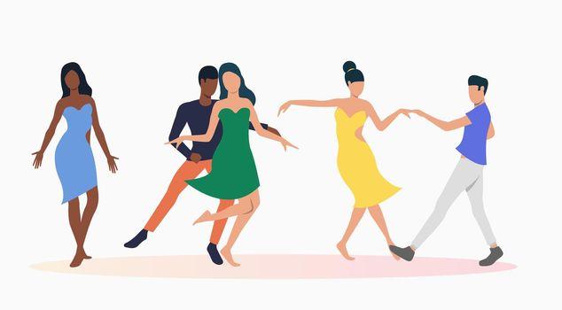 People dancing salsa