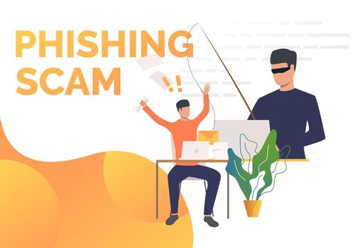 Phishing scam page template