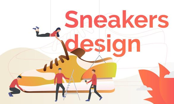 Sneakers design flyer template
