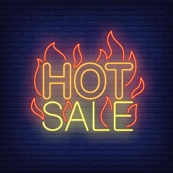 Hot sale with flames neon sign