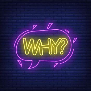 Why neon lettering in speech bubble