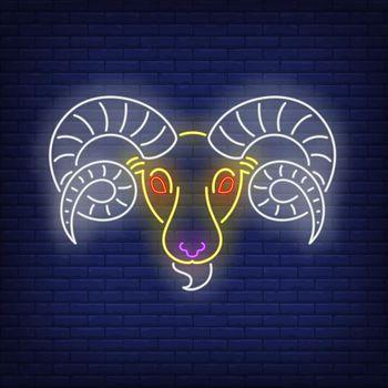 Aries neon sign