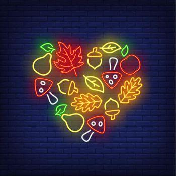 Autumn harvest neon sign